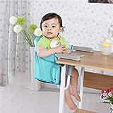 Vobajf Baby-Hochstuhl Tragbare Multifunktionaler Faltbarer Kinderstuhl zur Befestigung an Tisch Kinder tragbarer Tisch Seitenstuhl für Kinder Hohe Stühle (Farbe : Blau)