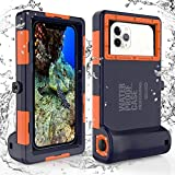 ShellBox wasserdichte Handyhülle Unterwasser Wasserfeste Handy Wasserschutzhülle Handytasche Wasserdicht Schwimmen Baden für iPhone 11 Pro Max XS Max 11 XR...