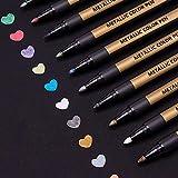 Metallic Marker Stifte Set, ANYUKE 10 Farben Permanent Brush Pen für Fotoalbum zum Selbstgestalten, Gästebuch, Scrapbook, Gold Metallischen Stift set zum...