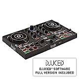 Hercules DJControl Inpulse 200 (2-Deck DJ Controller, Beatmatch Guide, IMA, 8 Pads, integr. Soundkarte, DJ Academy, DJUCED, PC / Mac)