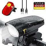 LIFEBEE LED Fahrradlicht Set, USB Wiederaufladbare Frontlicht und Rücklicht Set, StVZO Zugelassen Fahrradbeleuchtung, Fahrradlampe Fahrrad Vorderlicht, 2...