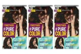 3x Schwarzkopf Pure Color Permanent Gel Farbe Nr.3.68 Dunkle Kirsche,3er Pack