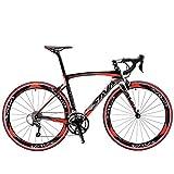 SAVADECK Warwind5.0 Carbon Rennrad 700C Vollcarbon Rahmen Rennräder mit Shimano 105 R7000 22-Fach Kettenschaltung Ultraleichtes Kohlefaser Fahrrad (Rot, 52cm)