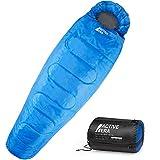 Schlafsack von Active Era - Professioneller 300 GSM Mumienschlafsack für Outdoor Camping im Sommer und Winter, Sleeping Bag für 3-4 Jahreszeiten