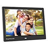 Digitaler Bilderrahmen, RegeMoudal 10 Zoll 1080P HD IPS LCD Panel Ultra Breitbild mit Fernbedienung, Unterstützt 32G SD und USB und Multi-Format für Video...