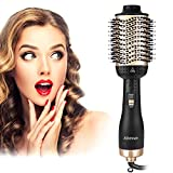Aibesser Haartrockner, 5 In 1 Upgrade Warmluftbürste Hair Dryer Volumizer Styler Heißluftbürste Negativer Ionen Föhnbürste Stylingbürsten Haarglätter...
