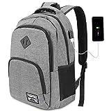 YAMTION Rucksack Laptop 17.3 Zoll Rucksack Schule mit USB-Ladeanschluss für Arbeit Schule Reisen Camping
