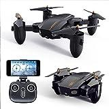 QEQ Mini Drohne Faltbar Mit HD Kamera RC Quadrocopter Ferngesteuert Mit 360Aufnahmewinkel, Verstellbare WiFi Kamera Live bertragung,Kopflos Modus, Przise...