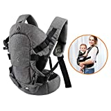 Xatan Baby-Trage, alle möglichen Tragepositionen für Neugeborene und Kleinkinder, ergonomischer Tragerucksack mit weichem, atmungsaktivem Mesh-Gewebe und...