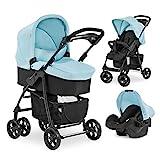 Hauck Kombi Kinderwagen Shopper Trio Set / inkl. Baby Wanne mit Matratze / Reise System mit Autositz / Buggy mit Liegefunktion / bis 25 kg / Getränke Halter /...