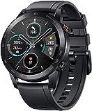 HONOR MagicWatch 2 Smart Watch, Fitness-Aktivitätstracker Herzfrequenz-Messgerät Uhren mit Stressmonitor, 15 Übungsmodi, Lauf-App (Schwarz 46mm)
