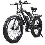 shengmilo MX02S 1000W Elektrofahrrad Elektrisches Mountainbike 26-Zoll-Fettreifen E-Bike 21 Geschwindigkeiten Beach Cruiser Herren Sport Mountainbike...