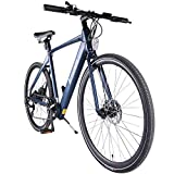 Accolmile Elektrofahrrad Urban City Rennrad 28' 700C Räder E-Bike Leichtes elektrisches Pendlerfahrrad für Erwachsene, BAFANG 36V 250W Hinterradnabenmotor mit...