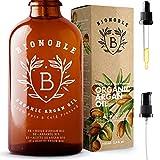 BIONOBLE BIO ARGANÖL 100% Rein, Natürlich, Kaltgepresst & Vegan | Glaspipette und Pumpe, Recycelbare Glasflasche | Argan Öl für Haare, Haut, Gesicht,...