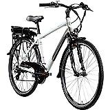 Zündapp E Bike 700c Trekkingrad Pedelec Z802 Elektrofahrrad 21 Gänge 28 Zoll Rad (weiß/grau, 48 cm)