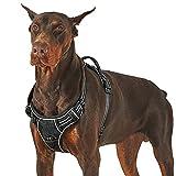 Lesure Hunde Geschirr verstellbar Brustgeschirr - Anti Zug Hundegeschirr atmungsaktiv Welpengeschirr No Pull Sicherheitsgeschirr für mittelgroße Hunde,...