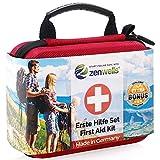 Erste Hilfe Set Wandern, Outdoor, Fahrrad & Reise Zubehör für die Erstversorgung der häufigsten Notfälle nach DIN 13167 - First Aid Kit für Deine...