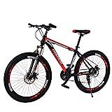26 Zoll Mountainbike mit 21-Gang-Doppelscheibenbremsen, Trekkingrad Herren Bike Damern-Fahrrad für Outdoor Sport Outroad Radfahren