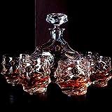 OOFAY Whiskykaraffe Decanter,Eleganten Schliffoptik Design,Whisky Karaffe Set,Bleifrei Kristallgläser,Schöne Geschenk Box, 7-Teiliges, Perfekt Für Zuhause,...