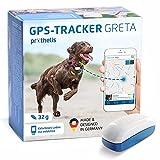 Prothelis Greta Hunde GPS Tracker Mini Peilsender mit App 32g leicht wasserdicht | Tracking GPS für Hunde mit Akku Laufzeit bis 5 Tage | GPS Tracker Hund klein...
