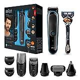 Braun 9-in-1 Multi-Grooming-Kit MGK3085, Barttrimmer und Haarschneider, Körperhaartrimmer, Ohren- und Nasenhaartrimmer, Präzisionstrimmer, lebenslang scharfe...