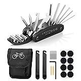 Fahrrad-Multitool, Migimi 16 in 1 Werkzeuge für Fahrrad Reparatur Set Multifunktionswerkzeug Reparatur Fahrradwerkzeug Tool, Werkzeugset Fahrrad mit Tasche,...