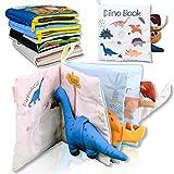Richgv Babybücher aus weichem Stoff ungiftig Neugeborenes Spielzeug mein erstes Buch Interaktive 3DStoffbücher für Kleinkinder Reisespielzeug Aufgabenbücher...