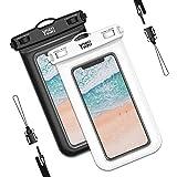 YOSH wasserdichte Handyhülle universal Tasche 2 Stück Wasserschutzhülle Urlaub 6,8 Zoll Waterproof Phone Case Kompatibel mit iPhone 12 11 Pro XS Max XR X...
