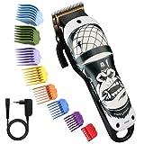Pro Haarschneider, BESTBOMG Gorilla Haarpflege-Kits mit 8 Führungskämmen, 2000mAh Li-Ionen-Batterie,5500rpm,Schnurloser Haarschneide-Kit Wiederaufladbarer...