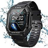 KOSPET Rock Smartwatch Wasserdicht 3ATM, 1,69 Zoll Sportuhr mit Blutdruckmessung, Herzfrequenz Messgerät, Schrittzähler Fitness Tracker, 14 Tage+ Spielzeit...