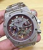ZYYDTY Automatic Watches Luxusmarke Automatic Mechanical Herrenuhr Tourbillion Sapphire Transparent Glass Skeleton Schwarz Blau Silber Limited Silver Coffee
