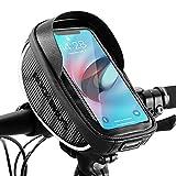 ROCKBROS Lenkertasche Fahrrad Handyhalterung 360 Grad Drehbar für GPS, Navi, Smartphone bis zu 6.0 Zoll Empfindlicher Touchscreen Wasserdicht Fahrradtasche...