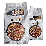 Grillprofi Premium Grillbriketts 10kg – 20kg Grillkohle Grill Brikett Kohlebriketts Holzkohle Weber Holzkohlegrill 3,5 Stunden Grilldauer | 100% Made in...