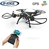 s-idee® 17115 H809W GPS WiFi Rc Drohne HD Kamera FPV RC Quadrocopter Höhenstabilisierung, One Key Return, Coming Home / Headless VR Drohne Funktion 2.4 GHz...