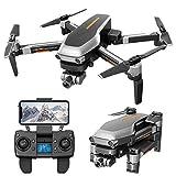 YAHCQ Faltbare GPS Drohne Mit 4K HD Kamera Live-Video Für Erwachsene, Quadcopter Mit Bürstenlosem Motor, Intelligente GPS Rückkehr, Follow Me, Gestenfoto Und...