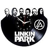 EVEVO Linkin Park Wanduhr Vinyl Schallplatte Retro-Uhr Handgefertigt Vintage-Geschenk Style Raum Home Dekorationen Tolles Geschenk Wanduhr Linkin Park