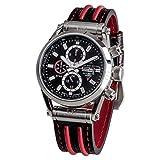 Carl von Zeyten Herren Analog Automatik Uhr mit Leder Armband CVZ0044BKRD