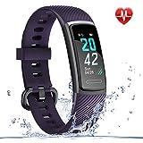 LETSCOM Fitness Armband mit Pulsmesser Wasserdicht, Kalorienzähler Schrittzähler Aktivitätstracker Uhr Schrittzähler Schlafmonitor, Farbbildschirm IP68...