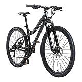 BIKESTAR Hardtail Aluminium Mountainbike Shimano 21 Gang Schaltung, Scheibenbremse 29 Zoll Reifen | 18 Zoll Rahmen Alu MTB | Schwarz & Grau