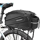 Lixada Fahrradtaschen Gepäckträgertaschen 10L Fahrradträger Tasche Wasserabweisend Fahrrad Rücksitz Tasche Fahrrad Kofferraum Cargo Pack mit Schultergurt