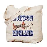 CafePress–London, England–Leinwand Natur Tasche, Reinigungstuch Einkaufstasche, canvas, khaki, M