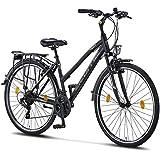 Licorne Bike Premium TrekkingBike in 28 Zoll - Fahrrad für Herren, Jungen, Mädchen und Damen - Shimano 21 Gang-Schaltung - Citybike - Männerfahrrad - L-V-ATB...