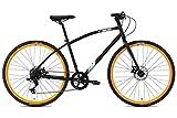 FabricBike Commuter Trekking Fahrrad Hybrid Touring Bike Straßen-/Stadtfahrrad, Sram 8 Gänge, Tektro Mechanische Scheibenbremsen (Matte Black & Orange,...