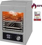 ProfiCook PC-EBG 1201 Elektrischer Indoor Beef-Grill mit 850°C, Keramik-Infrarot Hochleistungsbrenner mit 1600W für perfekte Steak-Ergebnisse, Grillen ohne...