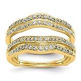 Ringschutz, 14 Karat Gelbgold, Diamant-Verstärker, 0,486 Karat