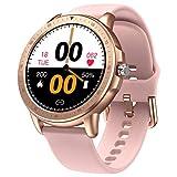 Smartwatch Frauen Sanag, E3-N Smartwatch Damen Android, Wasserdicht IP67, HD-Touchscreen (Rosa) (Pink)