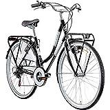 Hollandrad 700c Damenfahrrad Citybike Damenrad 28' Galano Caledonia Fahrrad (schwarz, 48 cm)