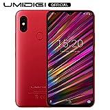UMIDIGI F1 Android 9.0 Smartphone ohne Vertrag (128GB großer Speicher, 5150 großer Akku, 16 cm(6.3 Zoll) FHD+ Waterdrop Full Screen, Globale Version, NFC...
