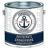 Rostschutz-Grundierung MATT Hellgrau Grau Rostschutz-Farbe für Metall // Hamburger Lack-Profi (2,5 L)
