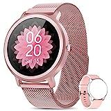 NAIXUES Smartwatch Damen Fitness Tracker Fitness Armbanduhr mit Pulsuhr Schlafmonitor IP68 Wasserdicht Smart Watch Sportuhr Aktivitätstracker Schrittzähler...